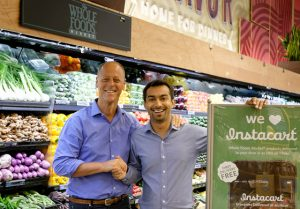 Whole Foods Market Co-CEO Walter Robb and Instacart CEO Apoorva Mehta