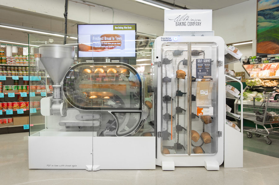 Breadbot-in-grocery-store - tendencias food tech- techfood magazine