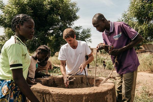 Uno de los proyectos de pozos en África promovidos por Auara