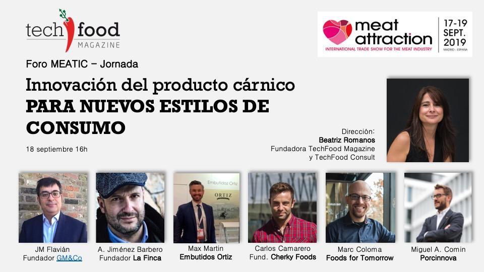 TechFood Magazine  organiza una jornada sobre innovación del producto cárnico en Meat Attraction, feria del sector cárnico.