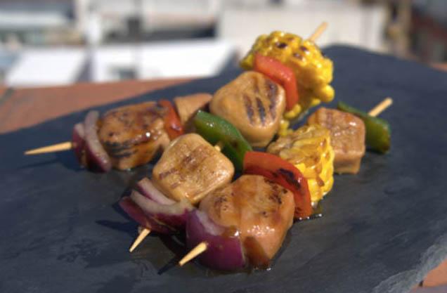 La brocheta de cerdo 2.0 de Nova Meat, 100% vegetal e impresa en 3D